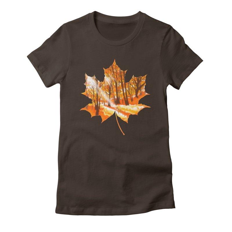 Golden Alley Women's Fitted T-Shirt by kooky love's Artist Shop