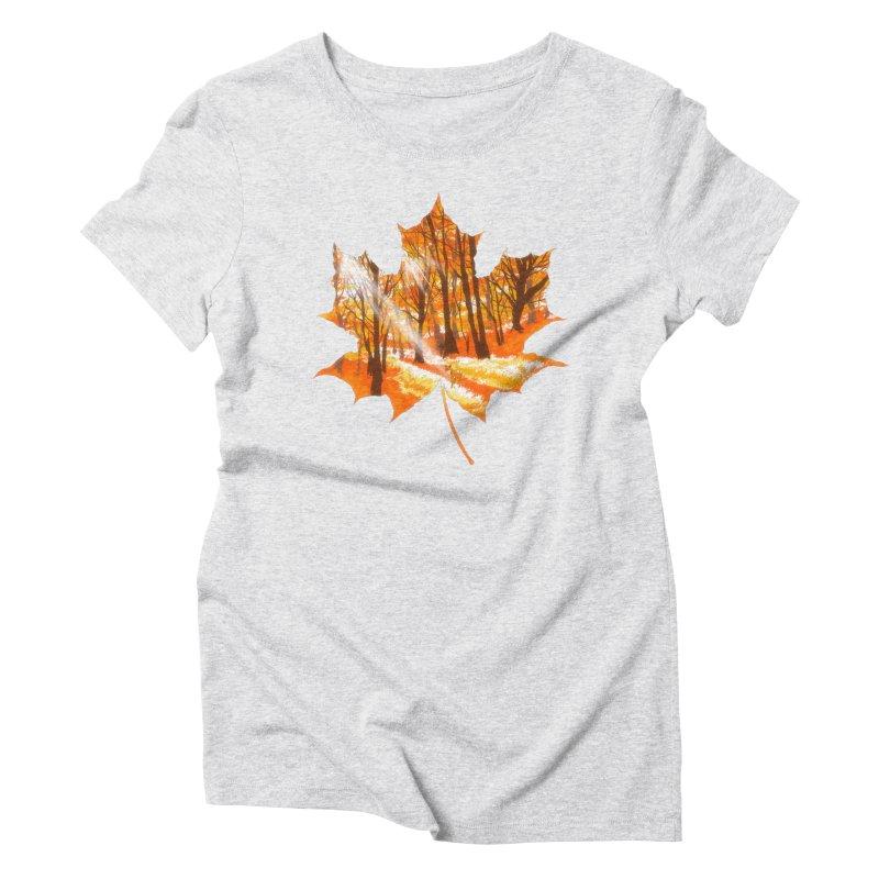 Golden Alley Women's Triblend T-Shirt by kooky love's Artist Shop