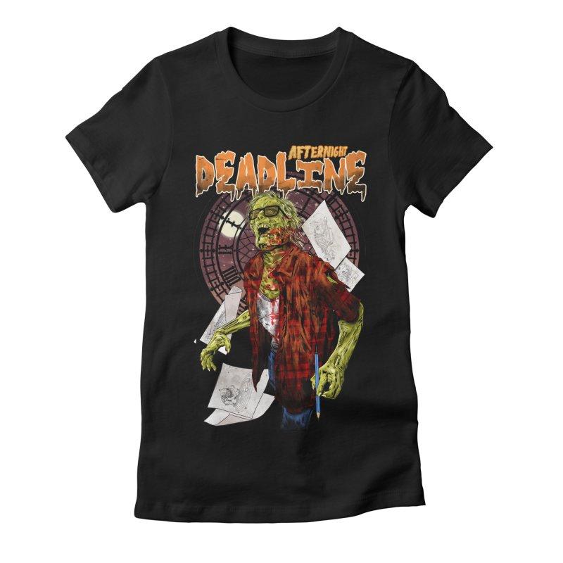 DEADLINE Women's Fitted T-Shirt by kooky love's Artist Shop
