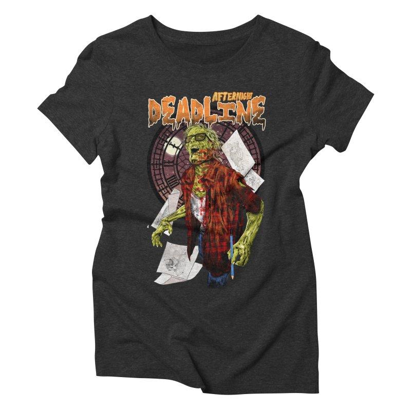 DEADLINE Women's Triblend T-Shirt by kooky love's Artist Shop