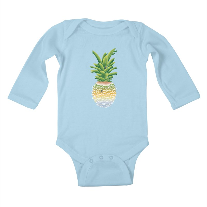 Finapple Kids Baby Longsleeve Bodysuit by kooky love's Artist Shop