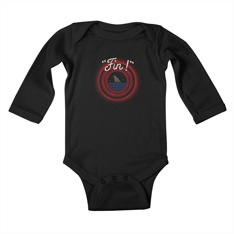 Fin Kids Baby Longsleeve Bodysuit by kooky love's Artist Shop