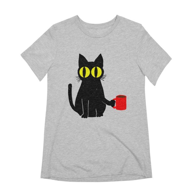 CATFEINE Women's Extra Soft T-Shirt by kooky love's Artist Shop