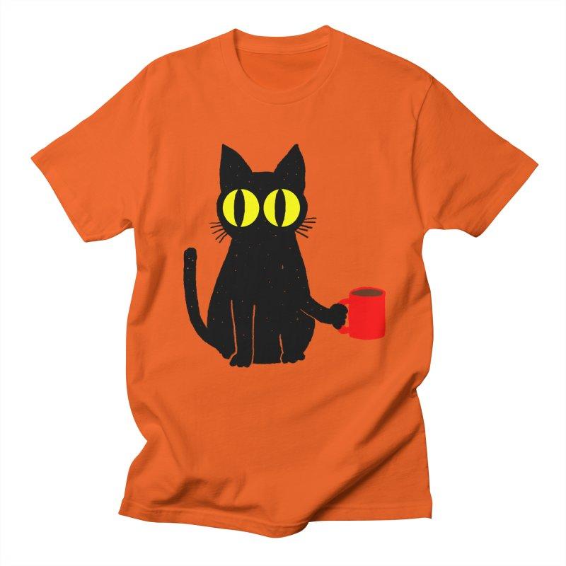 CATFEINE Women's Regular Unisex T-Shirt by kooky love's Artist Shop