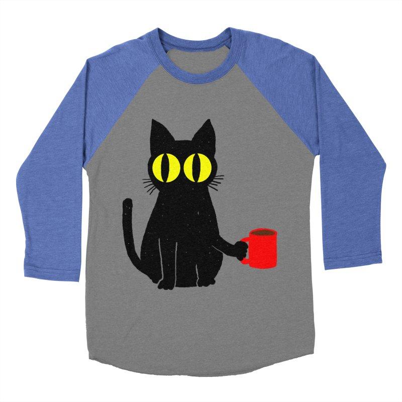 CATFEINE Women's Baseball Triblend Longsleeve T-Shirt by kooky love's Artist Shop
