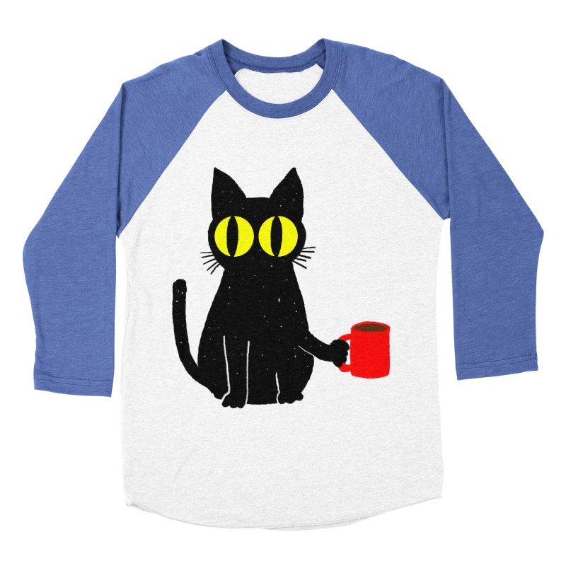 CATFEINE Men's Baseball Triblend Longsleeve T-Shirt by kooky love's Artist Shop