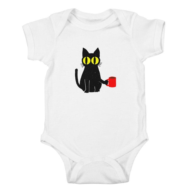 CATFEINE Kids Baby Bodysuit by kooky love's Artist Shop