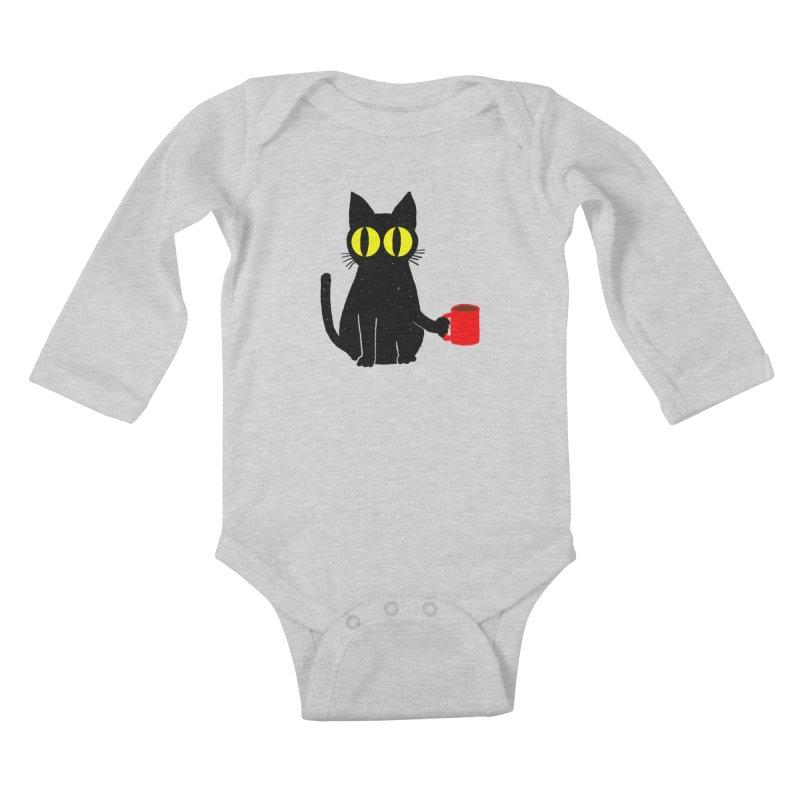 CATFEINE Kids Baby Longsleeve Bodysuit by kooky love's Artist Shop