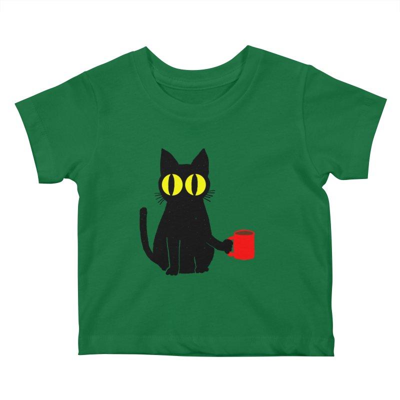 CATFEINE Kids Baby T-Shirt by kooky love's Artist Shop