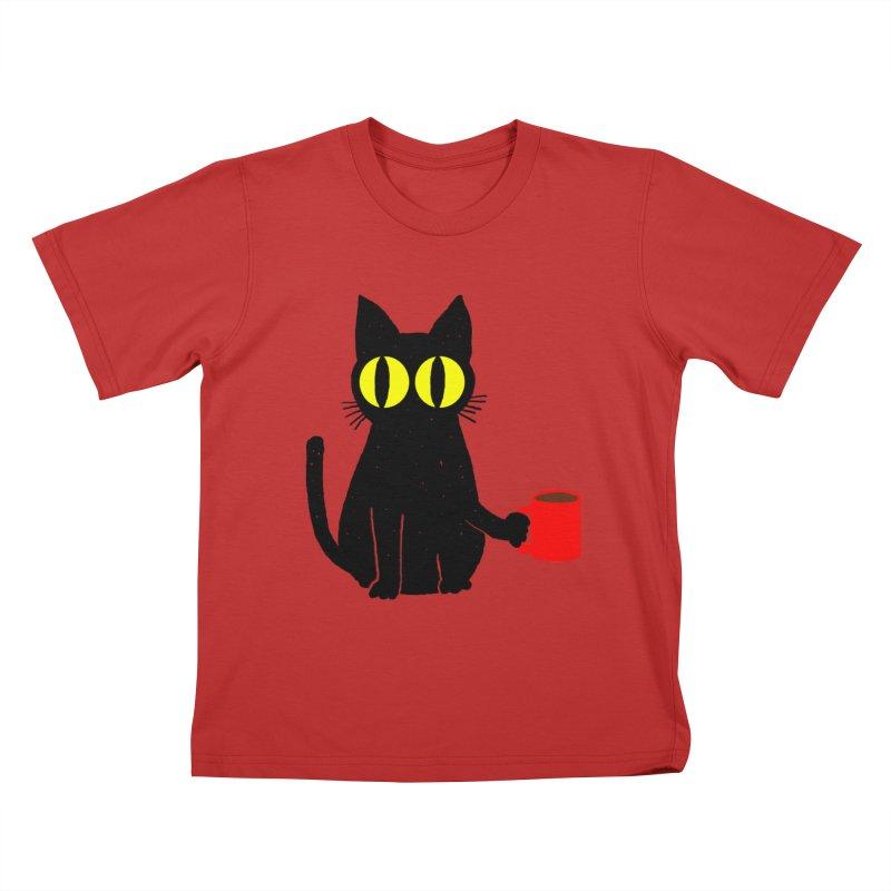 CATFEINE Kids T-Shirt by kooky love's Artist Shop