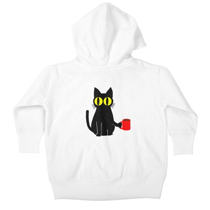 CATFEINE Kids Baby Zip-Up Hoody by kooky love's Artist Shop