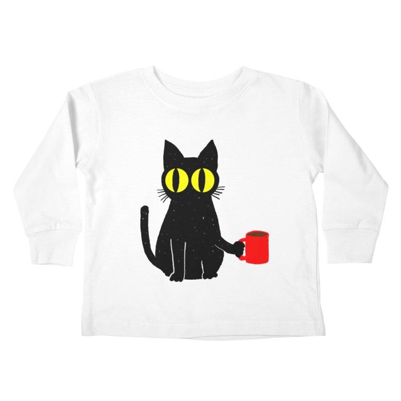 CATFEINE Kids Toddler Longsleeve T-Shirt by kooky love's Artist Shop
