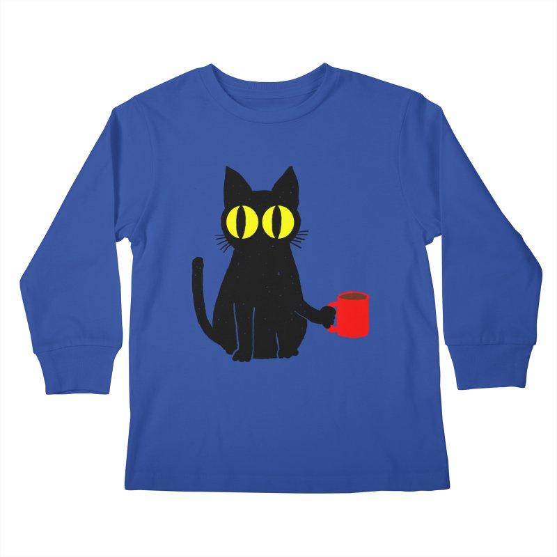 CATFEINE Kids Longsleeve T-Shirt by kooky love's Artist Shop