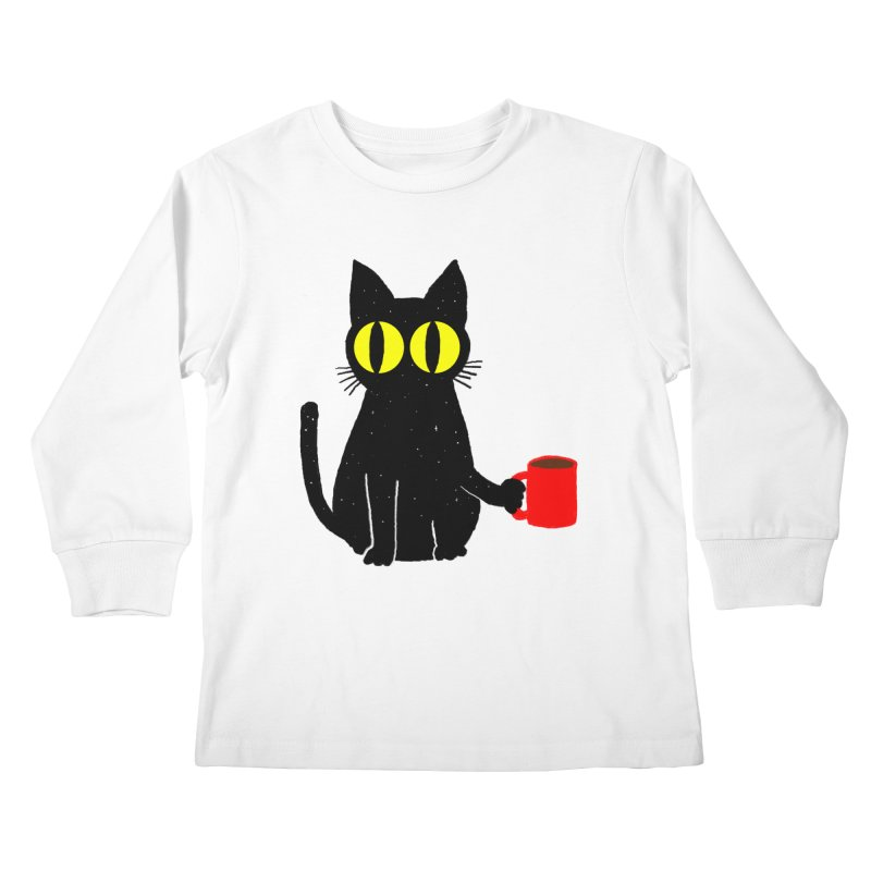 CATFEINE Kids Longsleeve T-Shirt by kooky love's Artist Shop