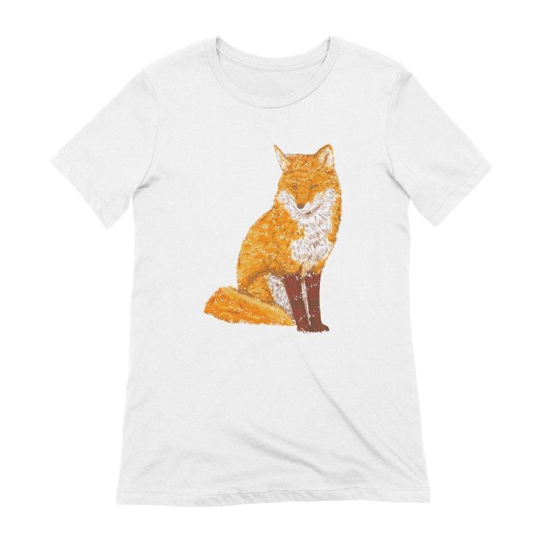 Snow & Fox Ever Women's Extra Soft T-Shirt by kooky love's Artist Shop