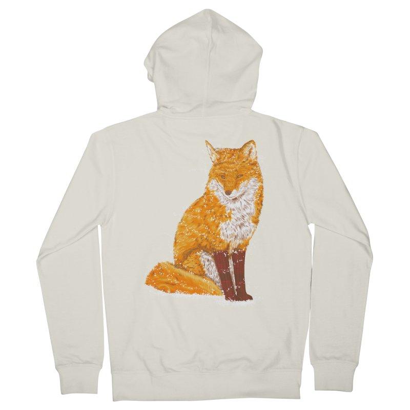 Snow & Fox Ever Men's French Terry Zip-Up Hoody by kooky love's Artist Shop