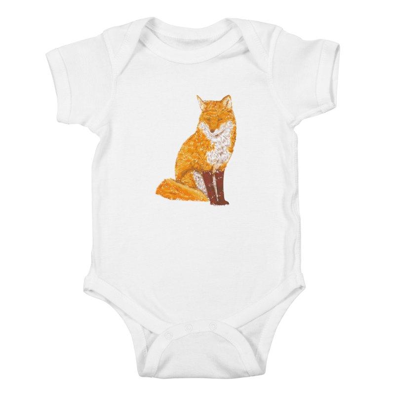 Snow & Fox Ever Kids Baby Bodysuit by kooky love's Artist Shop