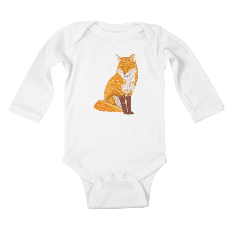 Snow & Fox Ever Kids Baby Longsleeve Bodysuit by kooky love's Artist Shop