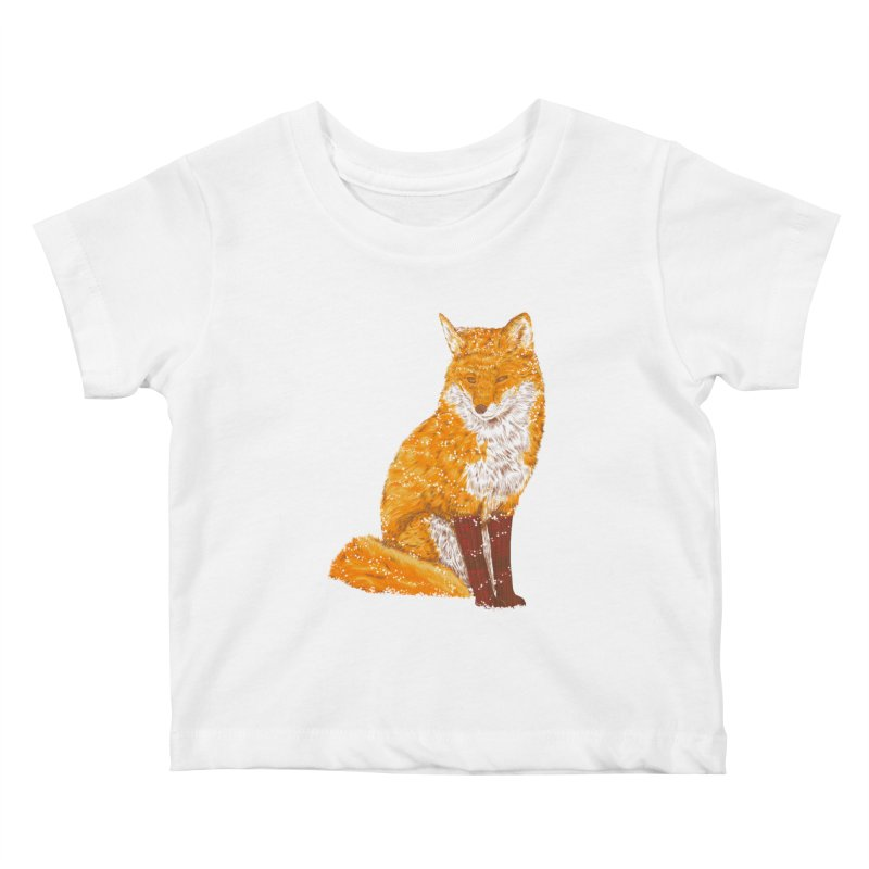 Snow & Fox Ever Kids Baby T-Shirt by kooky love's Artist Shop