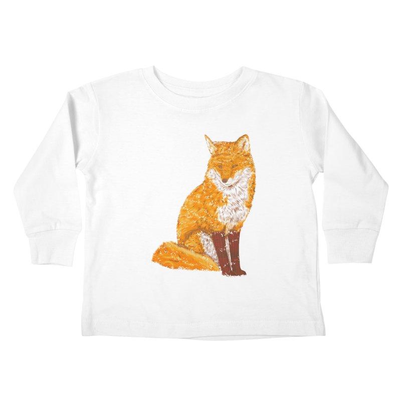 Snow & Fox Ever Kids Toddler Longsleeve T-Shirt by kooky love's Artist Shop