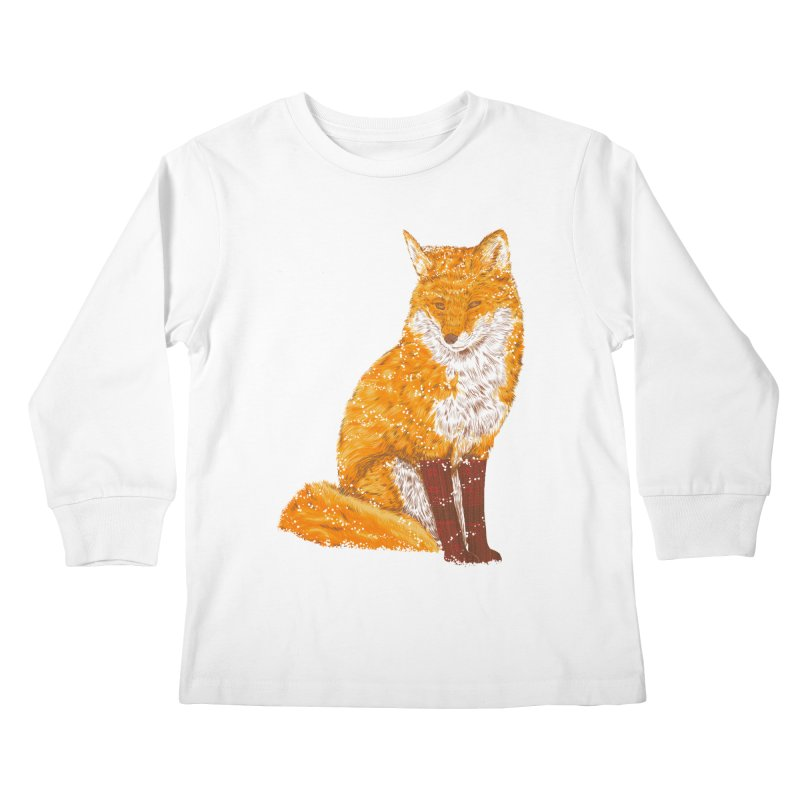Snow & Fox Ever Kids Longsleeve T-Shirt by kooky love's Artist Shop