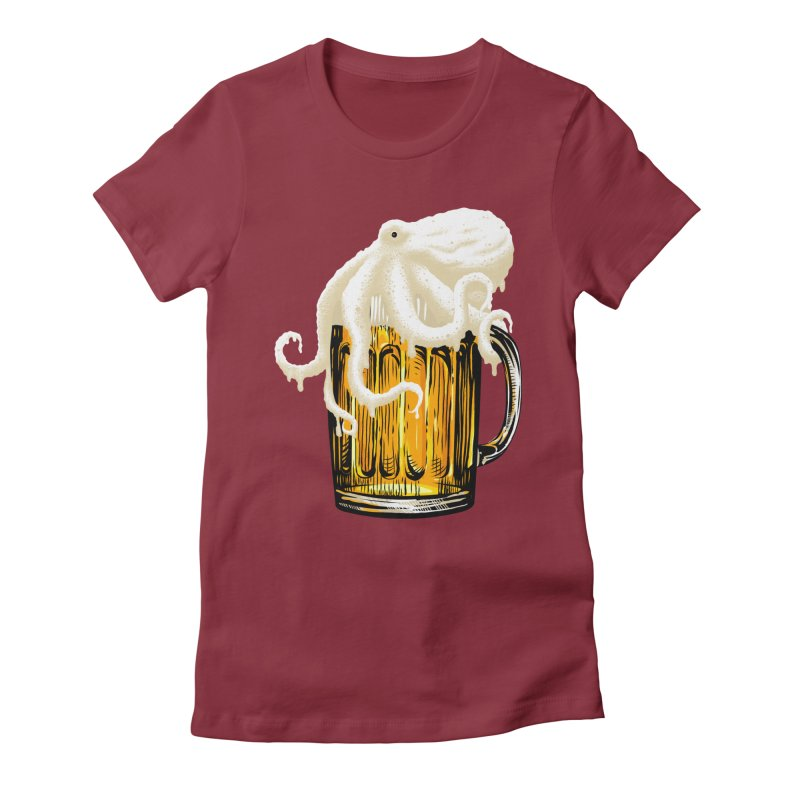 Octobeer Women's Fitted T-Shirt by kooky love's Artist Shop