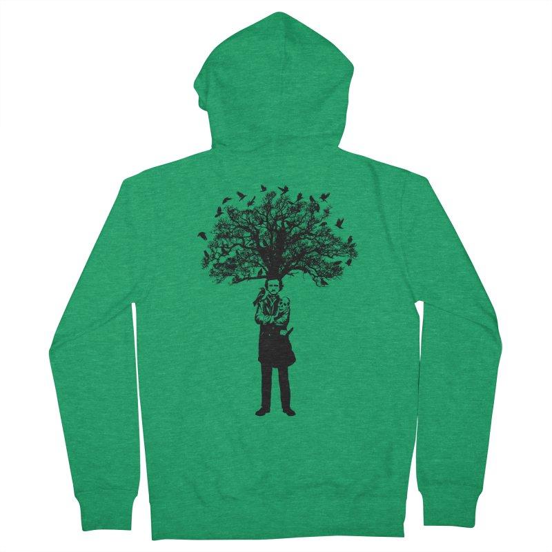 Poe Tree Men's French Terry Zip-Up Hoody by kooky love's Artist Shop