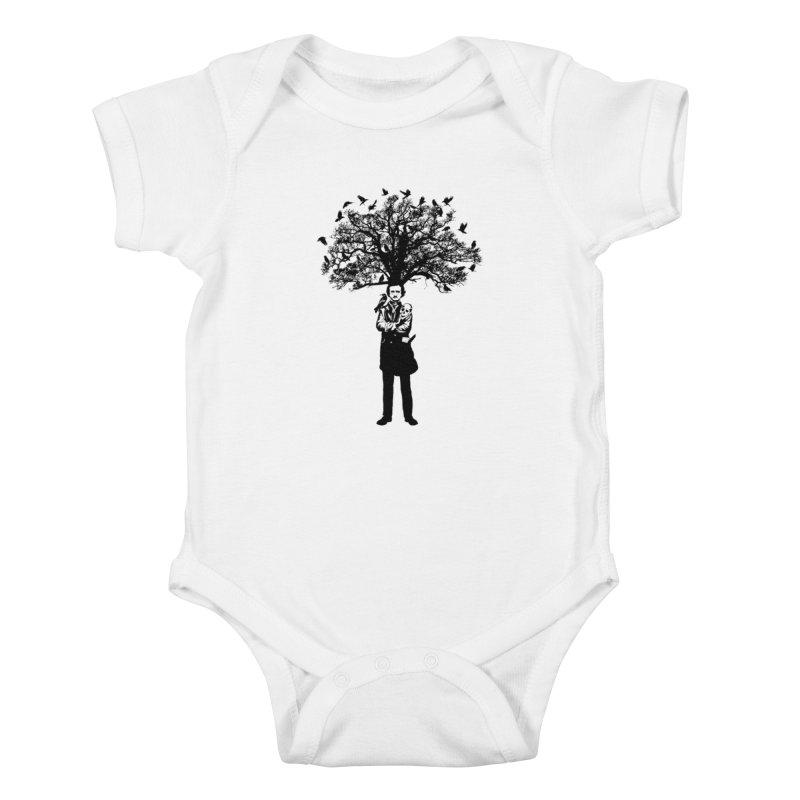 Poe Tree Kids Baby Bodysuit by kooky love's Artist Shop