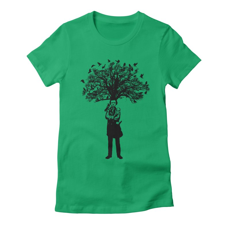 Poe Tree Women's Fitted T-Shirt by kooky love's Artist Shop