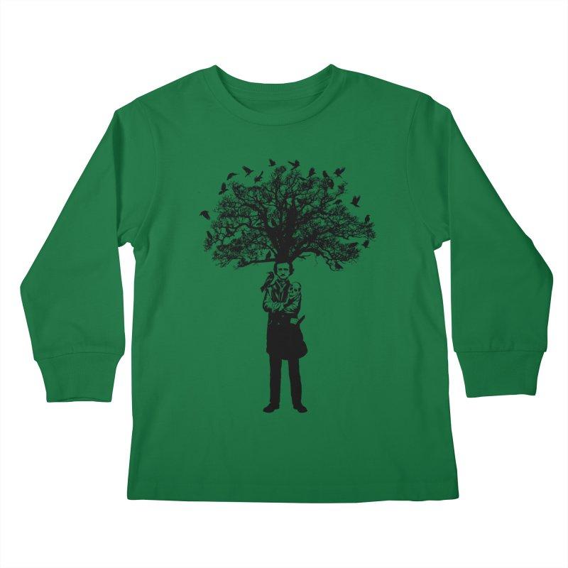 Poe Tree Kids Longsleeve T-Shirt by kooky love's Artist Shop