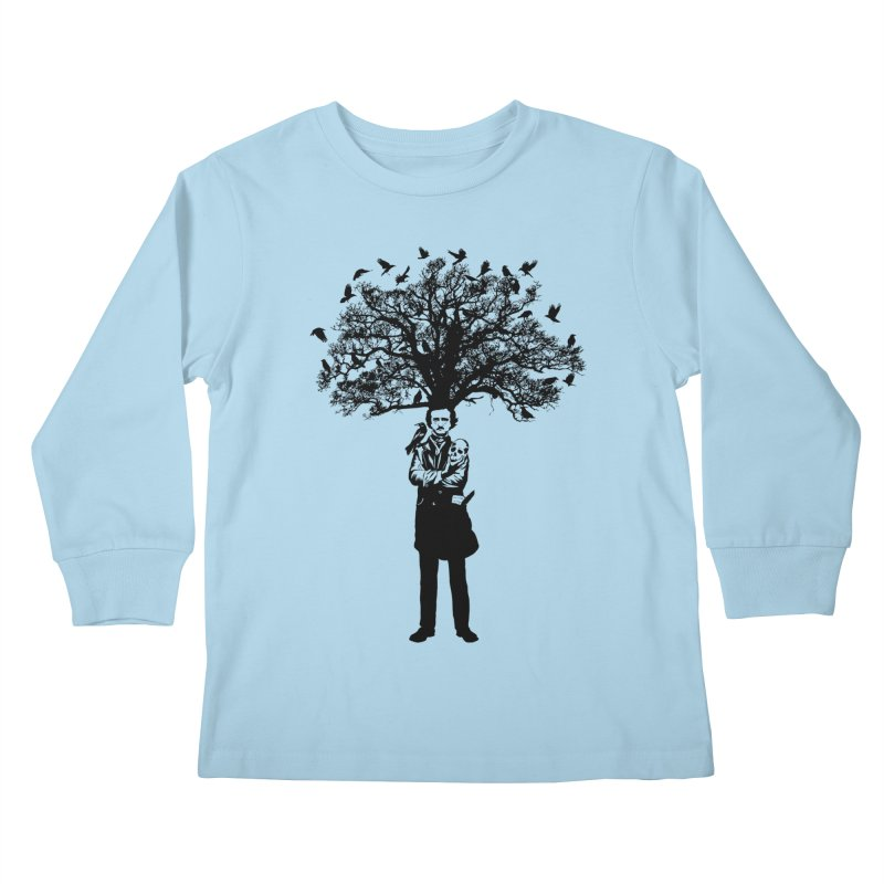 Poe Tree Kids Longsleeve T-Shirt by kooky love's Artist Shop