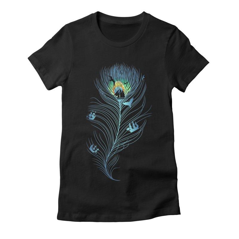 Pseachedelic Women's Fitted T-Shirt by kooky love's Artist Shop