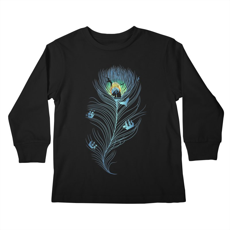 Pseachedelic Kids Longsleeve T-Shirt by kooky love's Artist Shop
