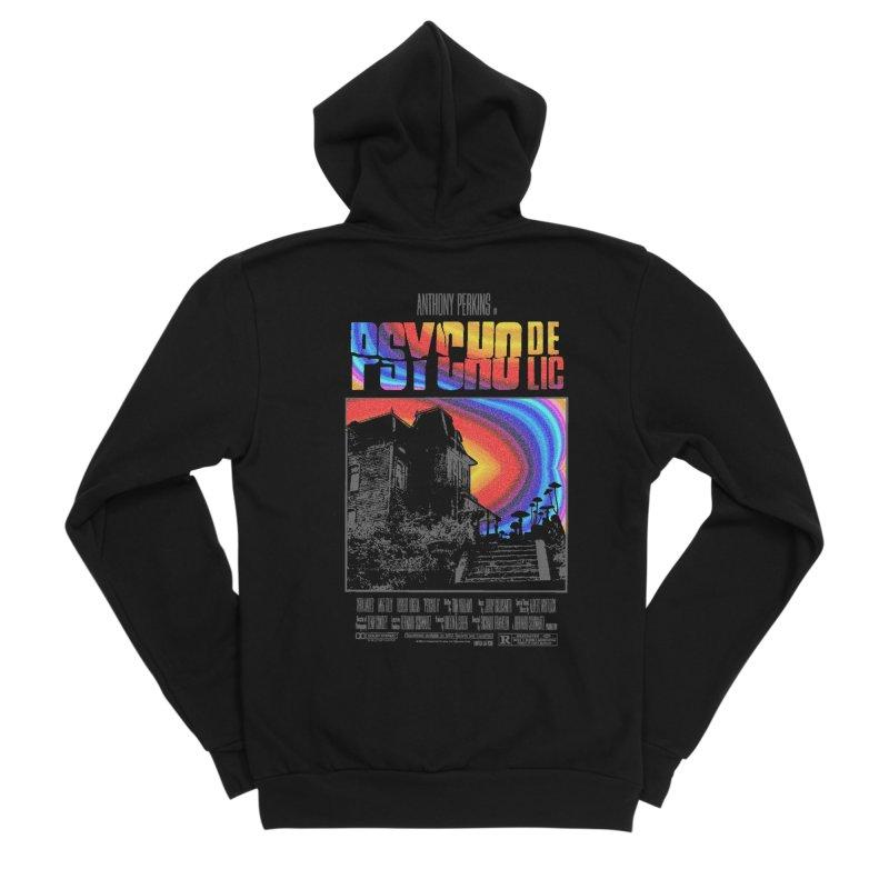 Psychodelic Men's Sponge Fleece Zip-Up Hoody by kooky love's Artist Shop