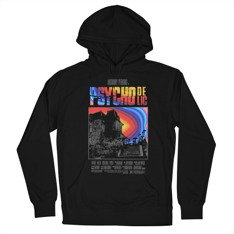 Psychodelic Men's French Terry Pullover Hoody by kooky love's Artist Shop