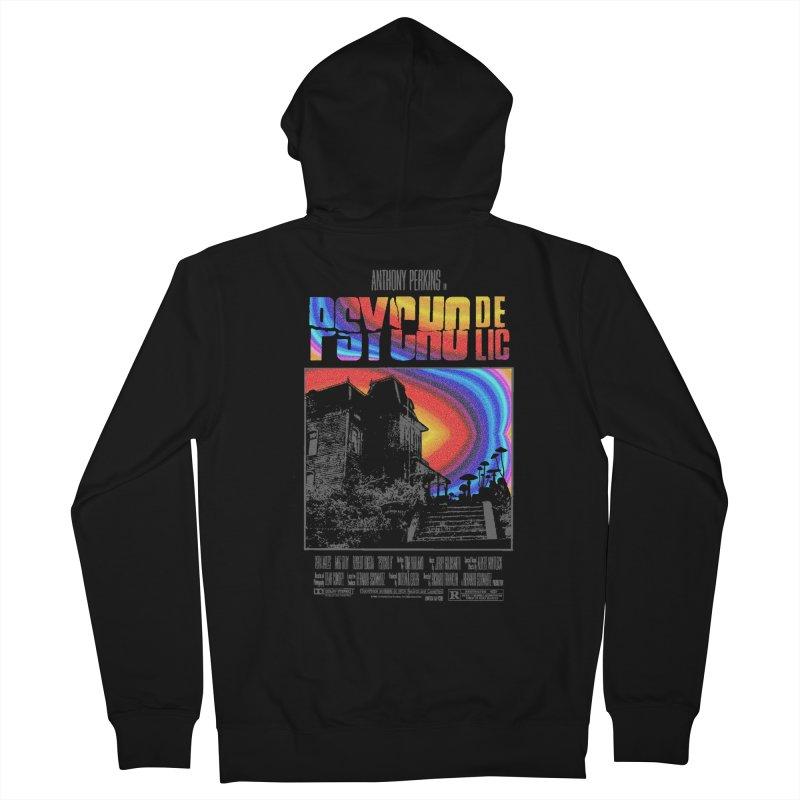 Psychodelic Men's French Terry Zip-Up Hoody by kooky love's Artist Shop