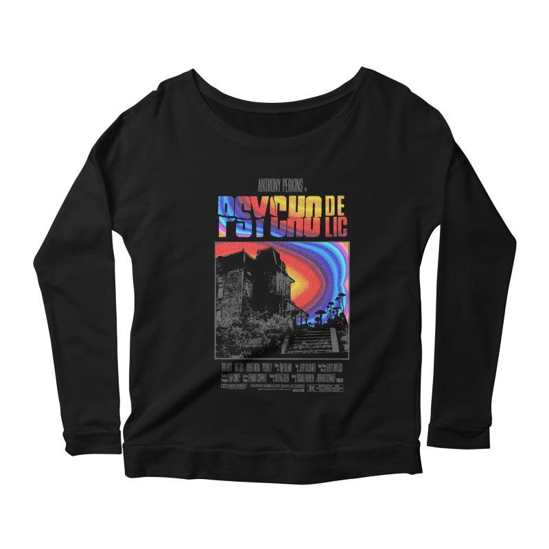 Psychodelic Women's Scoop Neck Longsleeve T-Shirt by kooky love's Artist Shop