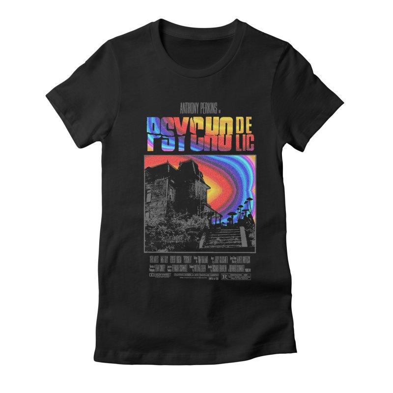 Psychodelic Women's Fitted T-Shirt by kooky love's Artist Shop