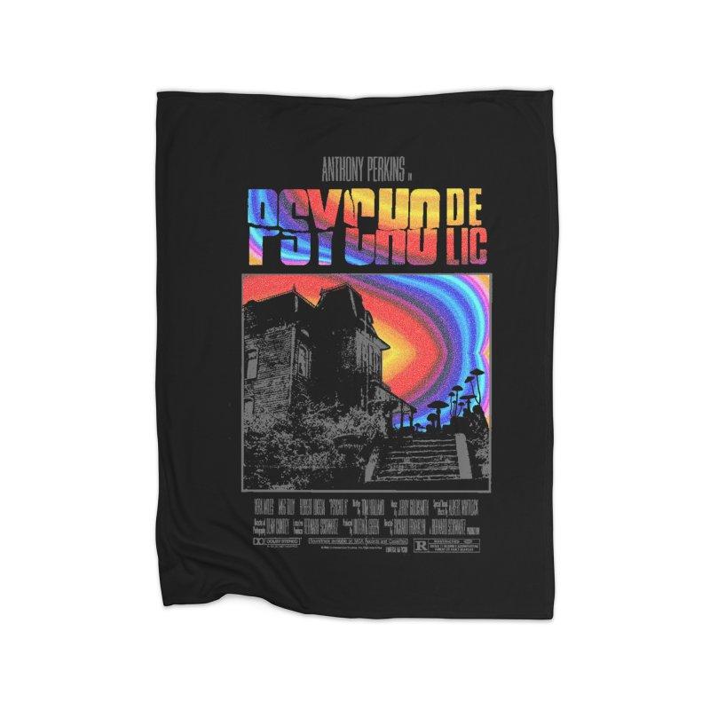 Psychodelic Home Fleece Blanket Blanket by kooky love's Artist Shop