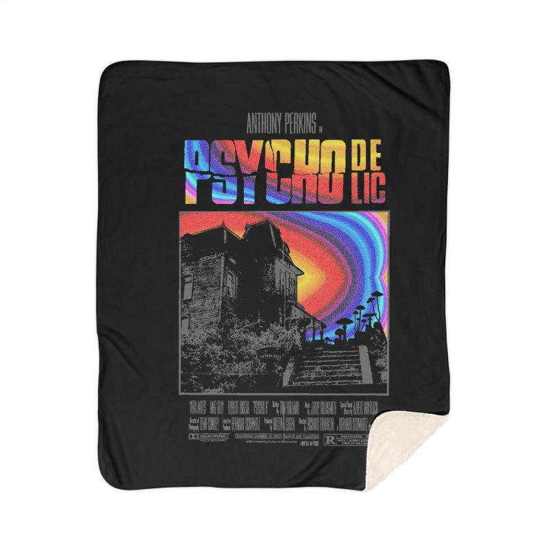 Psychodelic Home Sherpa Blanket Blanket by kooky love's Artist Shop
