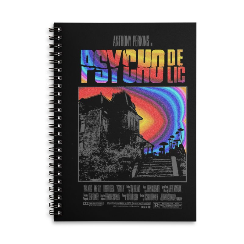 Psychodelic Accessories Lined Spiral Notebook by kooky love's Artist Shop