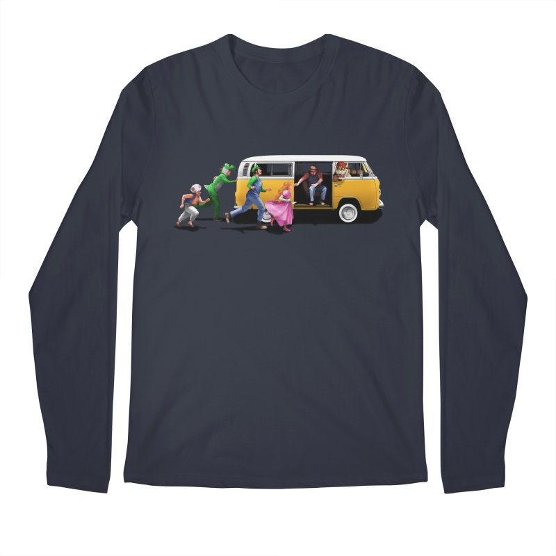 Little Peach Sunshine Men's Longsleeve T-Shirt by kooky love's Artist Shop