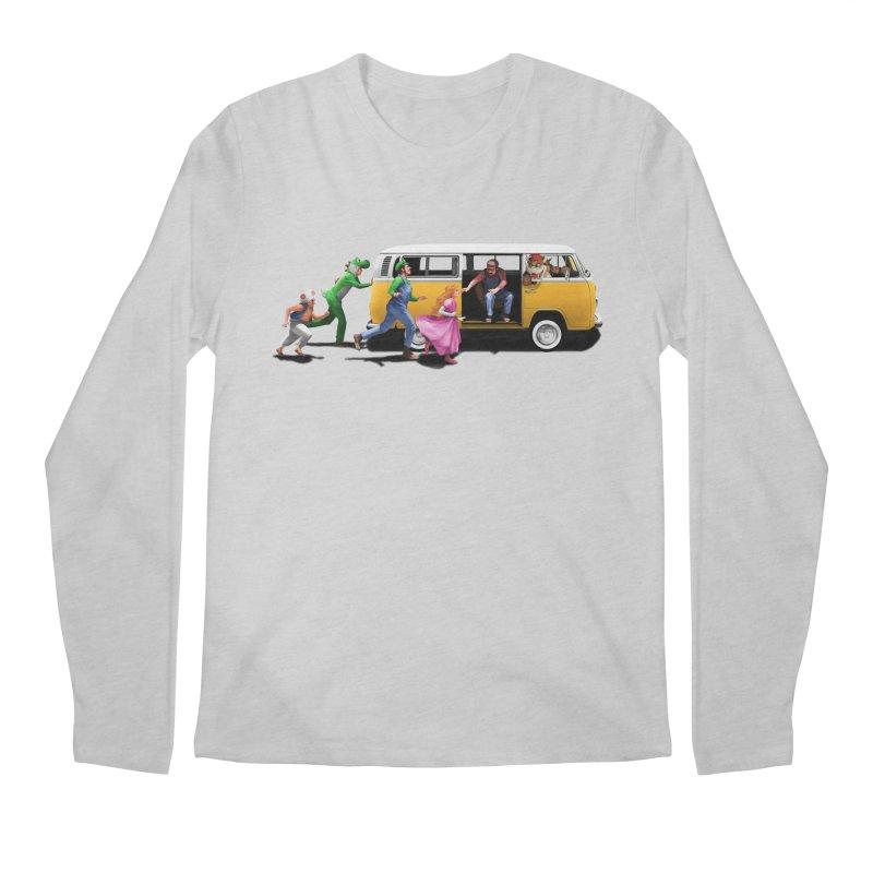 Little Peach Sunshine Men's Regular Longsleeve T-Shirt by kooky love's Artist Shop