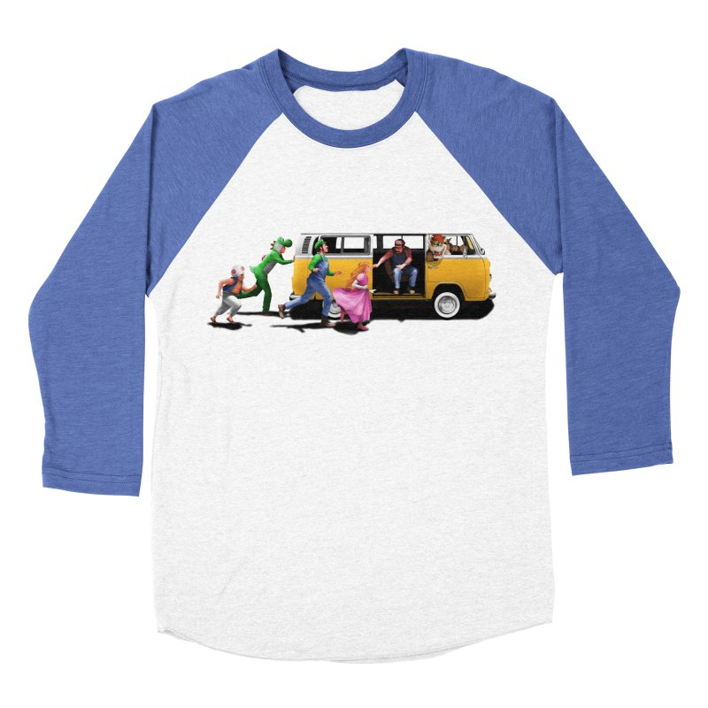 Little Peach Sunshine Men's Baseball Triblend Longsleeve T-Shirt by kooky love's Artist Shop