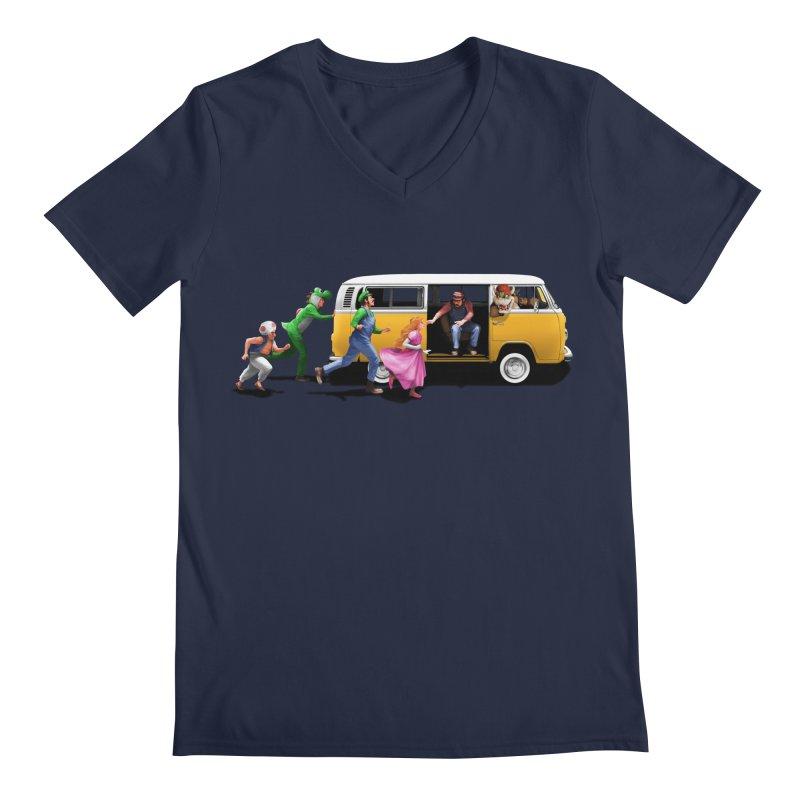Little Peach Sunshine Men's Regular V-Neck by kooky love's Artist Shop