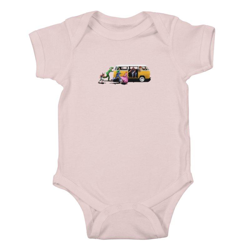 Little Peach Sunshine Kids Baby Bodysuit by kooky love's Artist Shop