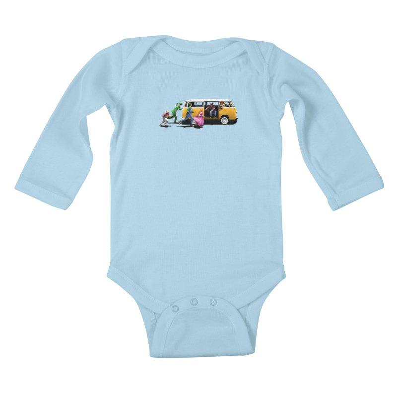 Little Peach Sunshine Kids Baby Longsleeve Bodysuit by kooky love's Artist Shop