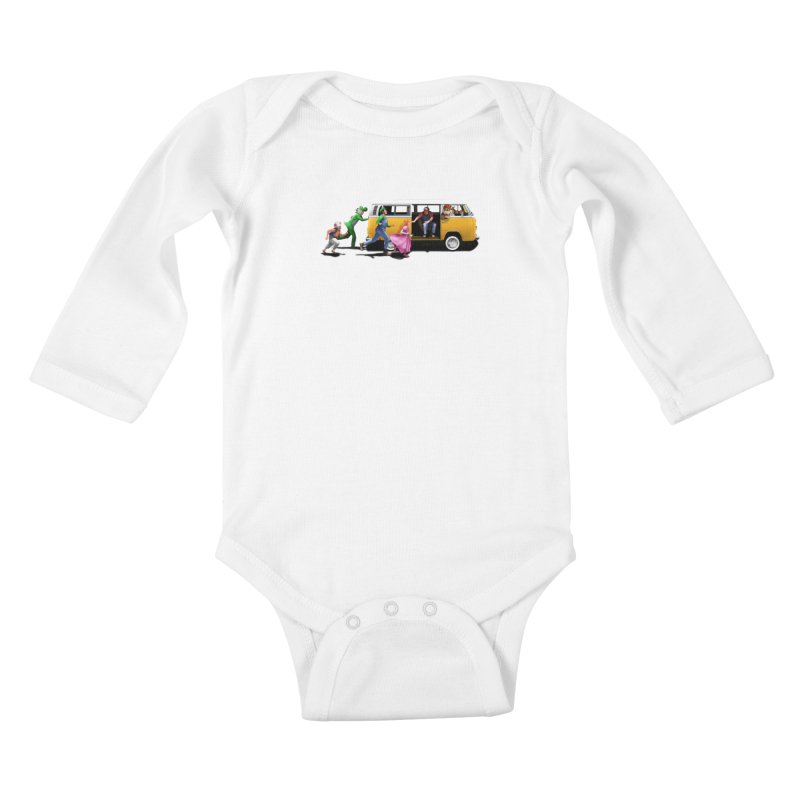 Little Peach Sunshine Kids Baby Longsleeve Bodysuit by kooky love's Artist Shop