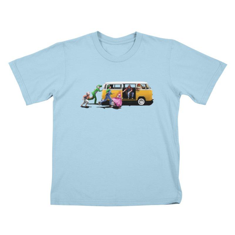 Little Peach Sunshine Kids T-Shirt by kooky love's Artist Shop