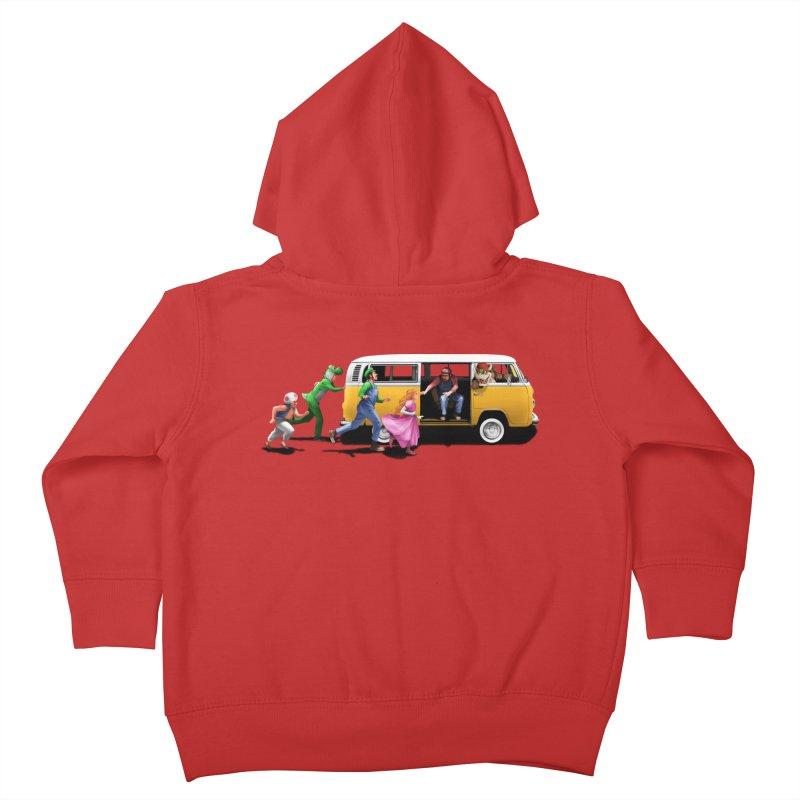 Little Peach Sunshine Kids Toddler Zip-Up Hoody by kooky love's Artist Shop